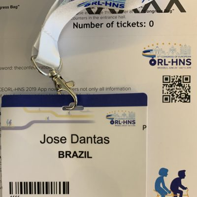 cracha do evento ORL 2019